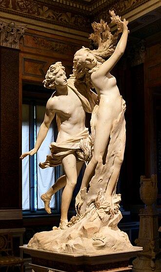 Baroque sculpture - Image: Apollo and Daphne (Bernini) (cropped)