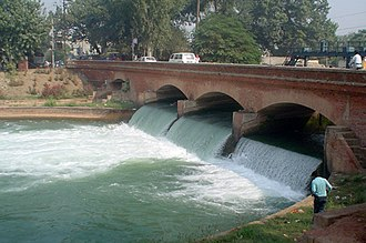 Sudhar - picture of an old bridge over the canal running through Sudhar that has since been dismantled