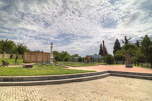 Khojivank Pantheon of Tbilisi - The main cluster of tombstones remaining at Khojivank, 2011.