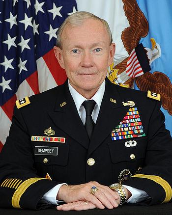 English: General Martin E. Dempsey, USA, 18thC...
