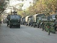 Army Vehicle waiting near Abahani ground