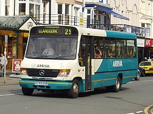 Mercedes-Benz Vario - Arriva North West Plaxton Beaver 2 bodied O814 in Llandudno in June 2008