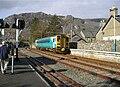 Arriva railcar entering Blaenau Ffestiniog.JPG