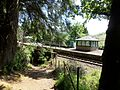 Arrochar and Tarbet railway station, view from the woodlands.jpg