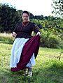 Artisan seamstress Jadwiga Jurasz in Żywiec Beskids folk costume.jpg