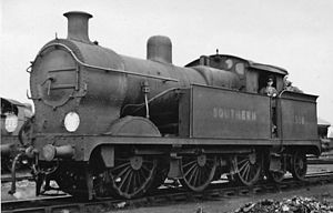 SECR J class - J class 1598 at Ashford 1946