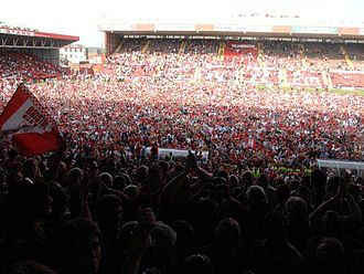 Bristol City F.C. - Pitch invasion at Ashton Gate after securing promotion in 2007