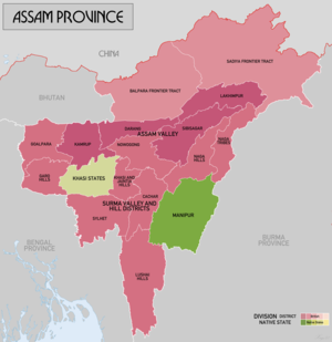 Assam Province - Assam Province in 1936