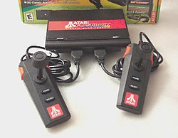 The Atari Flashback, whose case and controllers were designed to resemble the Atari 7800.