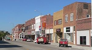 National Register of Historic Places listings in Nemaha County, Nebraska - Image: Auburn, Nebraska Central Ave E. of J facing NW