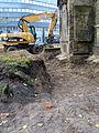 Aushub per Bagger 1m Alter St. Nikolai-Friedhof Nikolaikapelle Hannover, 06 Blick Richtung Freundeskreis Hannover 1.JPG