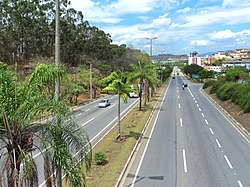 Pedro Linhares Gomes Avenue with the Usiminas at the background