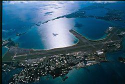 Letecký pohled na letiště