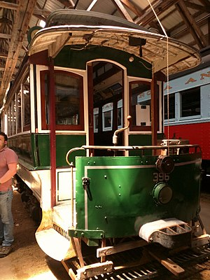 The Cardinal - This former Boston streetcar was restored to its 1915 Boston Elevated Railway livery for scenes in the film.