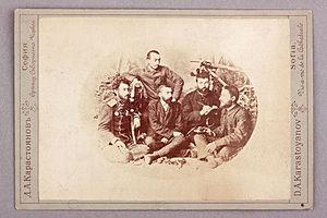 Dimitar Rizov - Bulgarian Secret Central Revolutionary Committee: Kosta Panitsa, Ivan Stoyanovich, Zahari Stoyanov, Ivan Andonov, and Dimitar Rizov