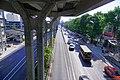 BTS Kasetsart University - Phahon Yothin road at the bus stop.jpg