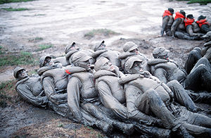 United States Navy SEAL selection and training - Image: BUDS trainees mud