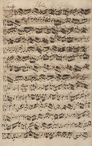 Sonatas for viola da gamba and harpsichord (Bach) - Image: BWV1027 autograph manuscript Viola da Gamba