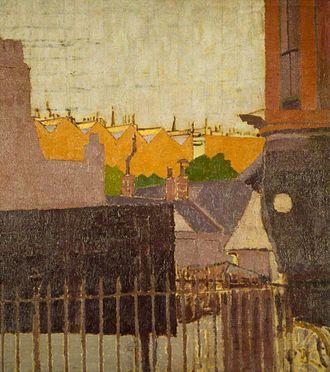 Malcolm Drummond - Backs of Houses, Chelsea, 1914