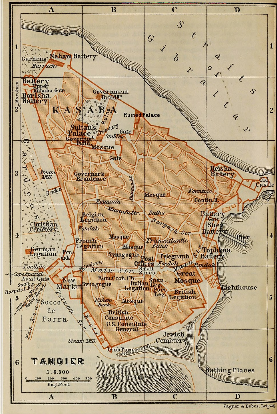 Baedeker's Spain and Portugal- Tangier (1901)
