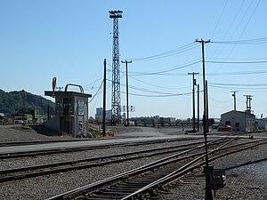 Balmer Yard - Balmer yard control tower and hump