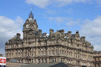 William Hamilton Beattie - Balmoral Hotel, Edinburgh from SW