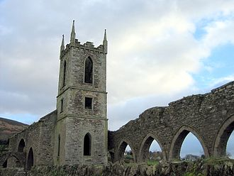 Baltinglass Abbey - Tower and arcade