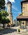Bamberg Altenburg Innenhof Bergfried und Feuerkorb.jpg