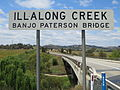 Banjo Paterson Bridge Illalong Creek Walter Griffin Way slightly curved concrete Bridge.JPG