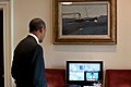 Barack Obama watches last Space Shuttle launch.jpg