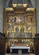 Barcelona Cathedral Interior - Chapel of Saint Sebastian and Saint Thecla 1486-1498 Jaume Huguet.jpg
