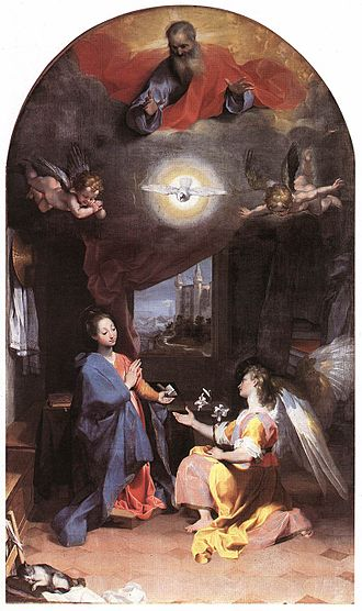 Federico Barocci - Annunciation (1592–96)  Oil on canvas, Santa Maria degli Angeli, Perugia.