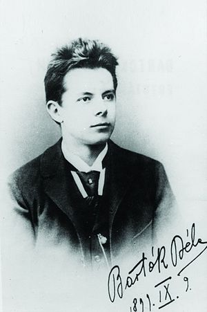 Béla Bartók - Bartók's signature on his high-school-graduation photograph, dated 9 September 1899