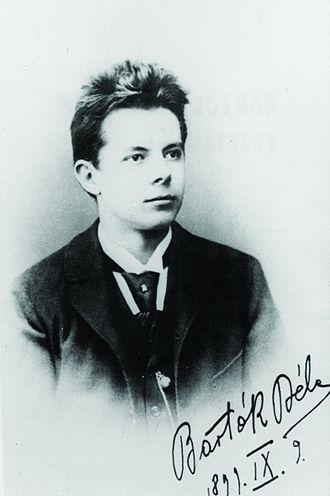 Béla Bartók - Bartók's signature on his high-school-graduation photograph, dated 9 September 1899