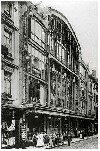 Académie Royale des Beaux-Arts - Architect Victor Horta (1901) Batiment Horta - rue Neuve à Bruxelles.