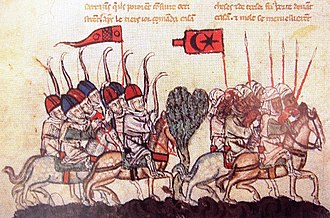 Mamluk Sultanate (Cairo) - 14th-century illustration from a manuscript of depicting the Battle of Wadi al-Khazandar, in which the Mamluks were routed by the Mongol Ilkhanids
