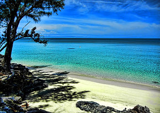 Eleuthera - Beach scene at Current Island, Eleuthera