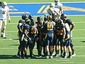 Bears in huddle at UC Davis at Cal 2010-09-04 3.JPG