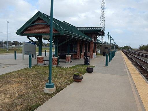 Beaumont, TX Amtrak station platform