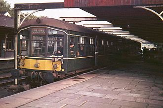 Bedford St Johns railway station - An Oxford-bound train in October 1967, shortly before withdrawal of this service