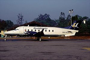 Buddha Air - Buddha Air Beechcraft 1900 at Tribhuvan International Airport in 2001
