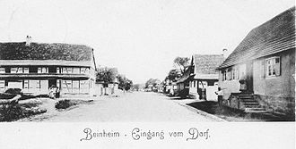 Beinheim - Street view circa 1905