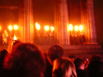 Beltane Fire Festival - Image: Beltane at Calton Hill fire lighting