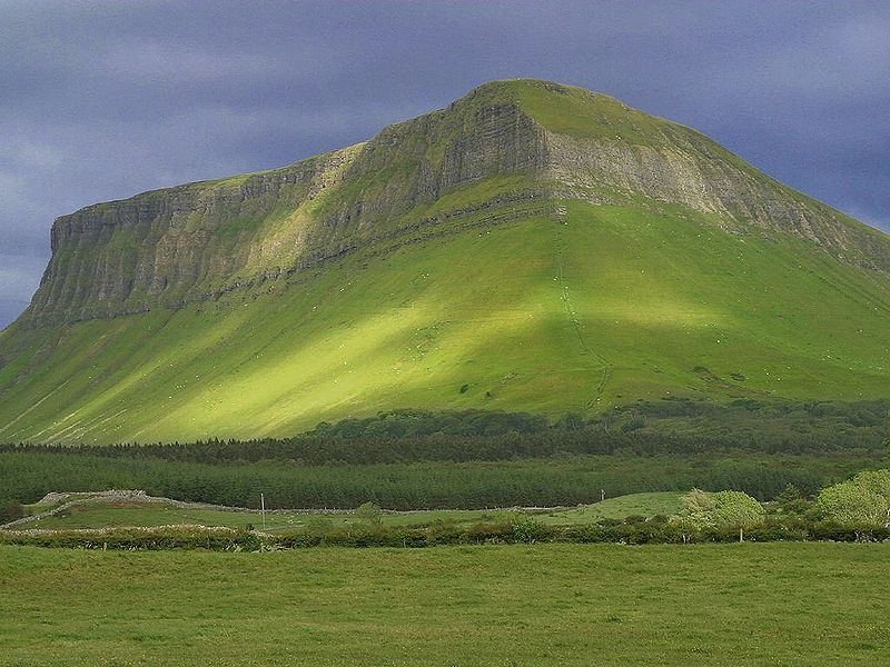 Mount Ben Bulben on a cloudy day, County Sligo, Ireland
