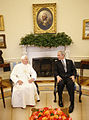 Benedictus XVI and Bush Oval Office 2008.jpg