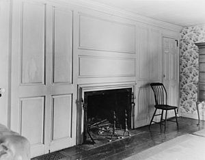 General Benjamin Lincoln House - Photo of a bedroom (from the 1936 HABS survey)