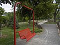 Besoin d'un repos bercant^ The red swing banch, need a rest - panoramio.jpg