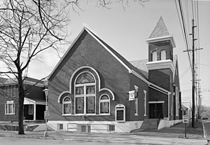 Front of {{w|Bethel A.M.E. Church (Richmond, I...