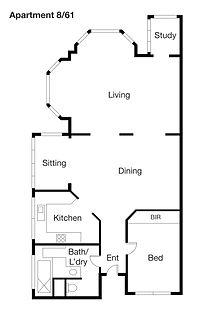 Beverley Hills Apartments Apartment 8 61 Plan