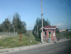 Bagrationovsk - Checkpoint at the frontier with Poland (Bezledy)